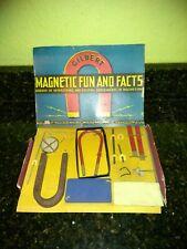 A C Gilbert Magnetic Fun & Facts Set,  1930's Vintage, Original