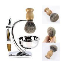 Men Wood Handle Shaving Bear Brush Best Badger Hair Shave Razor Barber Tool