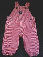 Oshkosh Bgosh Vestbak Red White Striped Lined Overalls...