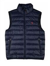 NWT POLO RALPH LAUREN BIG & TALL Men's Zip Packable Down Vest NAVY BLUE 2XB