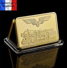 1 Lingot plaqué OR ( GOLD Plated Bar ) - Train Allemand 1926