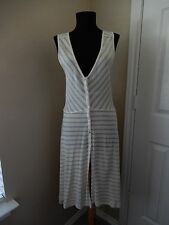 Anthropologie Size M Striped Knit Hi Lo Dress Button Front  NWT ($78)