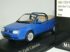WOW EXTREMELY RARE VW Golf IV 4 Cabriolet 2.0 8V 1999 Blue 1:43 Minichamps-R32