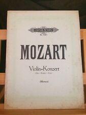 Mozart Concerto pour violon en Ré Majeur partition piano Marteau Peters 2193c