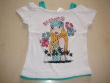 C & A tolles T-Shirt Gr. 104 weiß mit Girly Druckmotiv !!