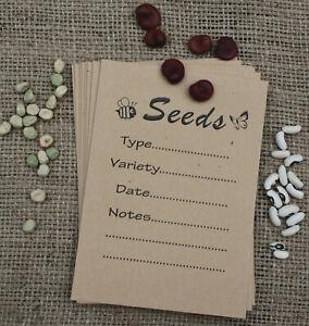Printed Craft Paper Seed Saving Storage Packet / Envelope Great Gardening Gift