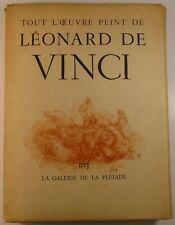1950 LEONARDO DA VINCI Tout l'oeuvre peint FOLIO 38 Plates PAINTINGS Pléiade