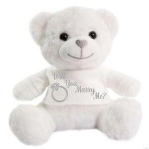 Will you marry me?  Wedding super soft cuddly gift celebrations Teddy Bear
