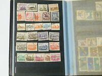 25 Photos of 480 + Polish Poland Postage Stamps Collection Album #BLK1