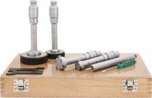 "Hole Micrometer Set .800 - 1.600"" 3-Point Carbide Anvils SPI 10-730-0 Case Incl."
