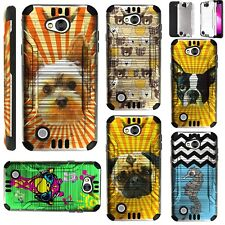 SILVER GUARD For LG Fiesta 2/X Power 2/X Charge Phone Case Brush Hybrid Cover KA
