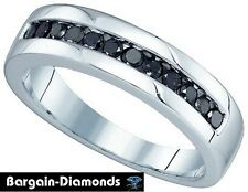 mens black diamond .50 carat 10k gold wedding ring band anniversary success