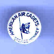 Vintage pin American AIR CADETS pinback Grease Monkey AVIATION