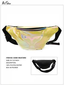 Mermaid Tail Fanny Pack for Women Adjustable Belt Money Bag Handbag Purse Lame