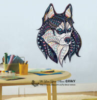 Husky Dog Animal Wall Stickers Removable Decal Kids Nursery Decor Art Mural Gift
