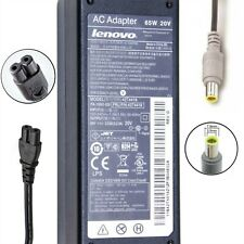 Genuine Lenovo ThinkPad Laptop Ac Charger Power Adapter 65W 20V 3.25A Round Tip