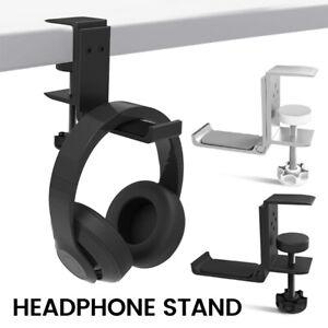 Metal Removable Headphone Hanger Stand Holder Hook Under Desk Headset Mount AU