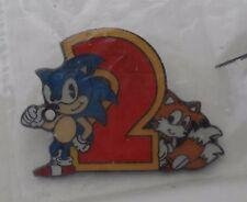 Sega SONIC the Hedgehog 2 Tails Rare Vintage Enamel METAL PIN BADGE Pins MD MS