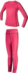 Barts Junior Kids Ski Base Layer Set Thermals 104 to 116 = age 4 to 6 Pink