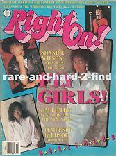 RIGHT ON February 1988 SHANICE Rare Vintage USA Celebrity Magazine