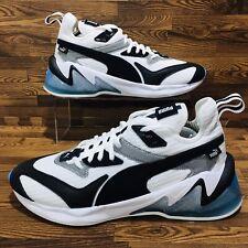Puma LQD CELL Origin (Men's Size 11) Running Shoes White/Black/Blue Sneakers