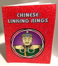 CHINESE LINKING RINGS BOOKLET Stage Magic Trick Book How To Instruction Routines