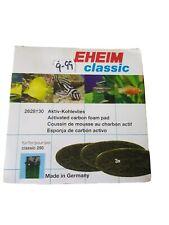 EHEIM 2628130 Classic 250 Activated Carbon Foam Pads x3 Aquarium