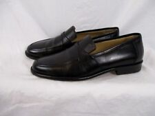 Johnston & Murphy Mens Loafer Shoes Black Slip On Size 8.5M Taps on Bottom SS4