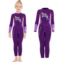 Kids Wetsuit, 2.5mm Neoprene Thermal Swimsuit, Full Body Surf Suit for Girls