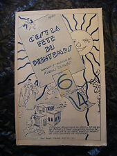 Partition C'est la fête du Printemps 1950 Marius Durand