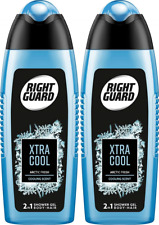 2x Right Guard 2in1  Body& Hair Xtra Cool Shower Gel 250ml