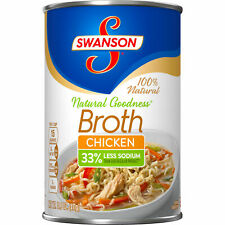 Chicken Stock Broth Swanson Natural Goodness Case 12pk 14.5oz each Cans Soup