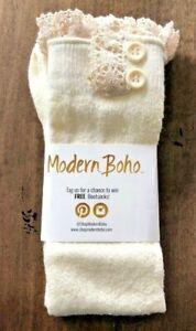 Original Button Socks Ivory Modern Boho