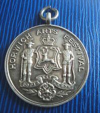 Silver Fob Medal / Pendant h/m 1950s -  Horwich Arts Festival  Bolton Lancashire