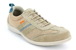 Ladies Free Step Lace Up Mid Beige Casual Suede Trainers shoes  - Paradise
