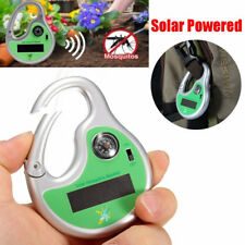Portable Solar Powered Sonic Mosquito Insect Repeller w/ Outdoor Camping Compass