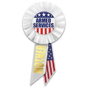 Patriotic Armed Services Mother Rosette - Made In The USA