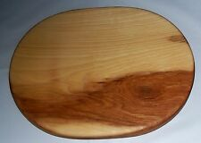 Handmade Hickory Wood Solid Oval Cutting Board
