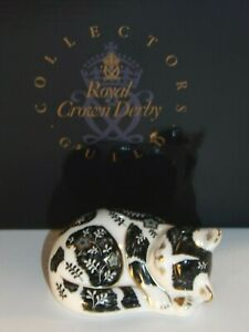 Royal Crown Derby Misty Collector Guild Paperweight Gold Stopper & Box Excellent