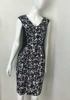 CUE IN THE CITY Plaid Printed Zipper Dress Size 8 AS NEW