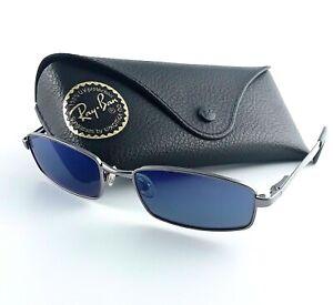 Ray Ban Junior Gunmetal Rectangular Sunglasses w/Case - RJ9504S 200/6P 49-17-128