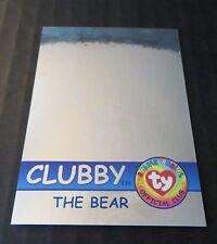 Ty Beanie Babies Series Ii S2 Blue Hologram Rare Bear Card 292 Clubby 6128/6667