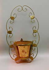 More details for vintage copper brass hanging planter