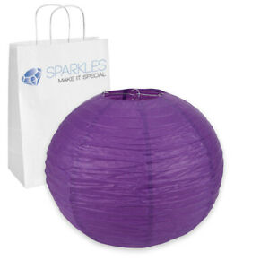 """5 pcs 18"""" inch Chinese Paper Lantern - Purple - Wedding Party Event vc"""