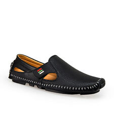 f0ec90246b4 Men s Summer Slip On Driving Loafers Casual Leather Flat Shoes Comfy Boat  Shoes