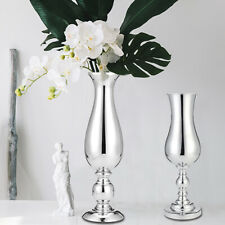 38cm Silver Iron Luxury Flower Vase Urn Candle Stand Wedding Table Home Decor
