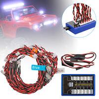 12pcs 1:10 RC Model Car truck LED Light Kit LED Flashing Head Light Lamp System