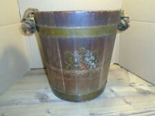More details for ww2 ve day wooden bucket made from royal navy battleships winston churchill