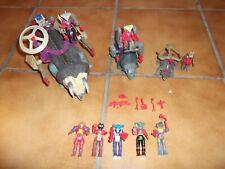 Dino Riders Sammlung Vintage Rulonier Figuren, Triceratops , Zubehör usw