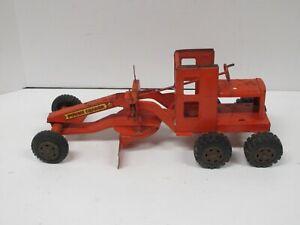 Vintage Orange Lumar Power Grader by Marx